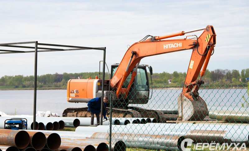 Работы по укреплению берега идут с опережением. Фоторепортаж