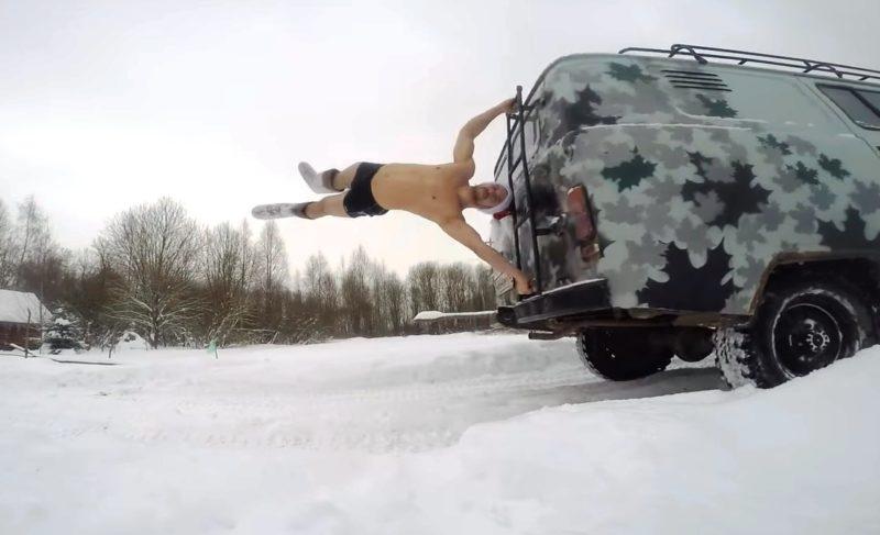 Мороз и скорость: рыбинцы сняли новый ролик из серии «Жить в кайф». ВИДЕО