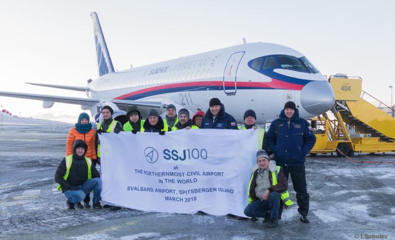Sukhoi Superjet-100 доказал способность совершать полёты в арктических широтах