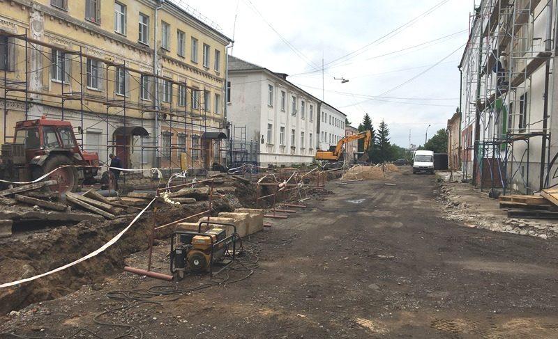 Реконструкция центра: стартовал ремонт в Преображенском и Вознесенском переулках