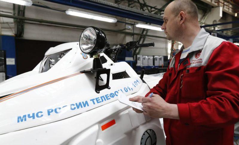 Рыбинские снегоходы отправились на службу в региональные отделения МЧС. На очереди — квадроциклы