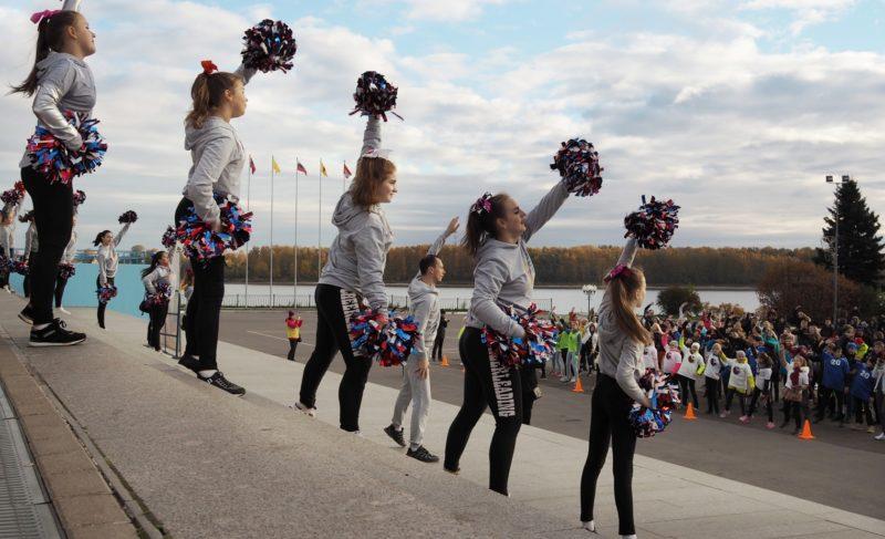 Для позитивного настроения: в Рыбинске прошла общегородская зарядка. Фоторепортаж