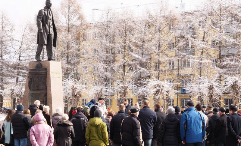 «Рабочий — это почётное звание». В Рыбинске прошёл митинг, посвящённый Павлу Дерунову