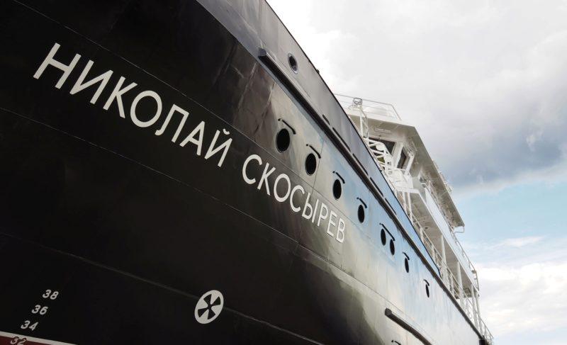 Самое большое из построенных на «Вымпеле»: в Рыбинске спустили на воду малое гидрографическое судно