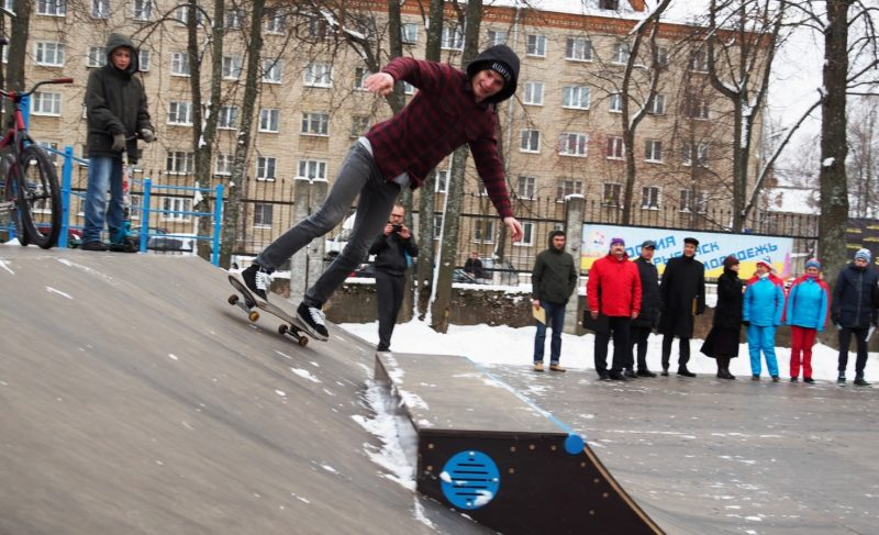 Открытие скейт-площадки в Рыбинске. Комментарий Фонда поддержки олимпийцев и пять фотографий