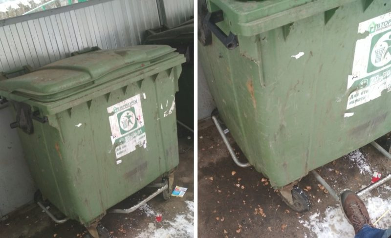 Какими могли бы быть мусорные контейнеры в Рыбинске (как вариант). В одной картинке