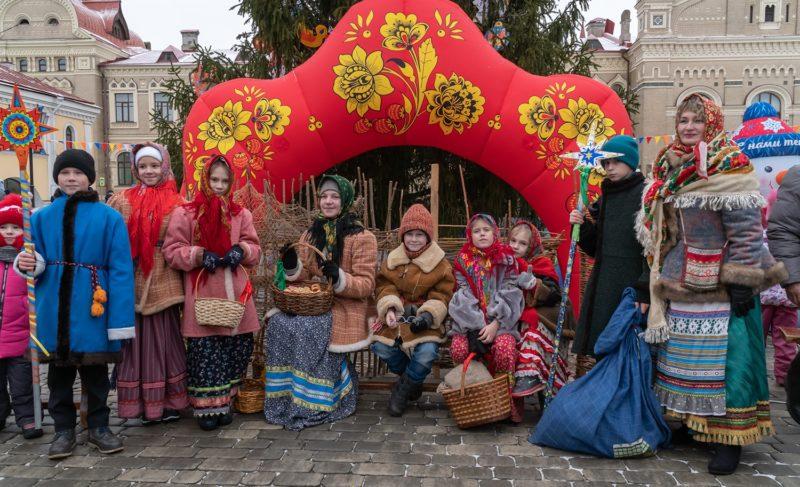 Рождество в Рыбинске. Фоторепортаж с Красной площади
