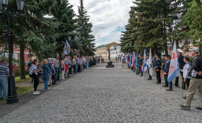 День ВМФ в Рыбинске. Фоторепортаж с бульвара Ушакова