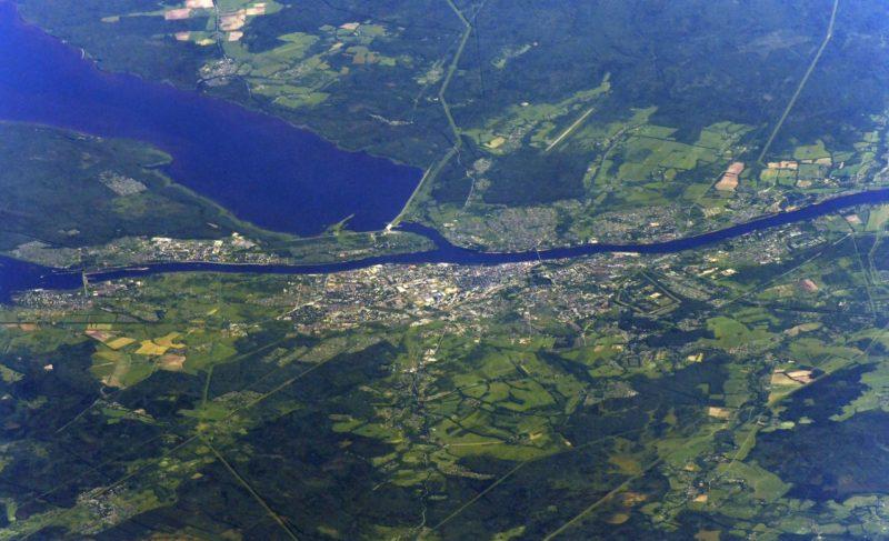 Рыбинск с высоты полёта МКС — в одной картинке