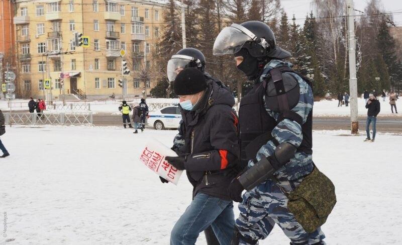 Несогласованная протестная акция в Рыбинске: площадь Дерунова оцепили, есть задержанные