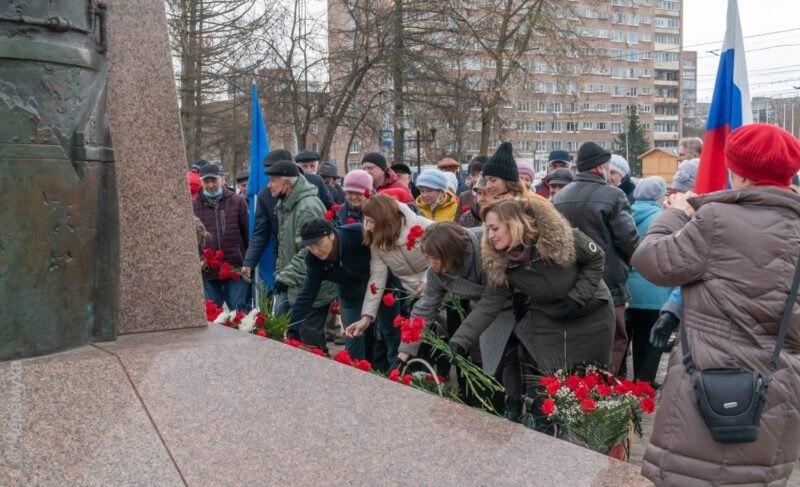В Рыбинске отметили 105 лет со дня рождения Павла Дерунова. Фоторепортаж