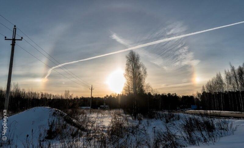 Красивое явление: в Рыбинске вновь наблюдали солнечное гало