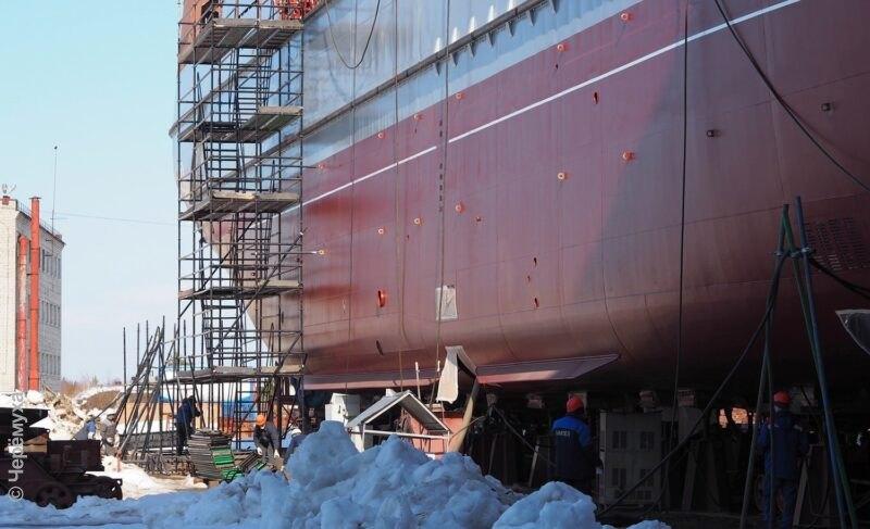 Пять фактов осамом большом судне, построенном на«Вымпеле». Ивпечатляющие фото