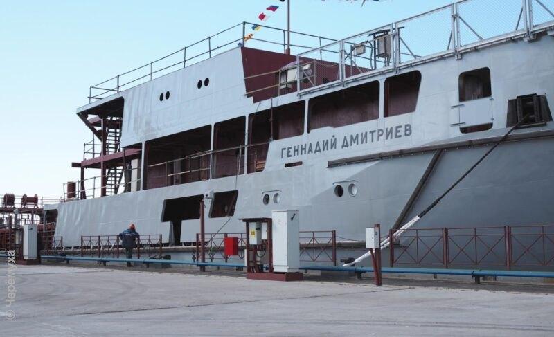 Уникальный гигант: как спускали наводу судно «Геннадий Дмитриев». Фото