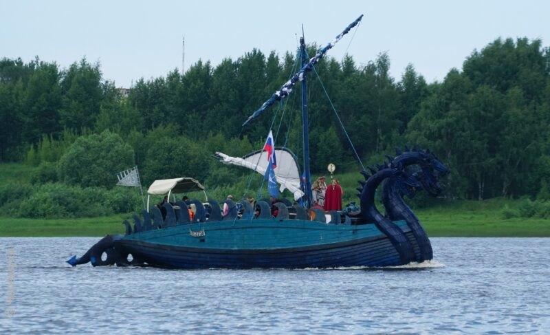 Путь «Змея Горыныча» вновь прошёл через Рыбинск. Водной картинке