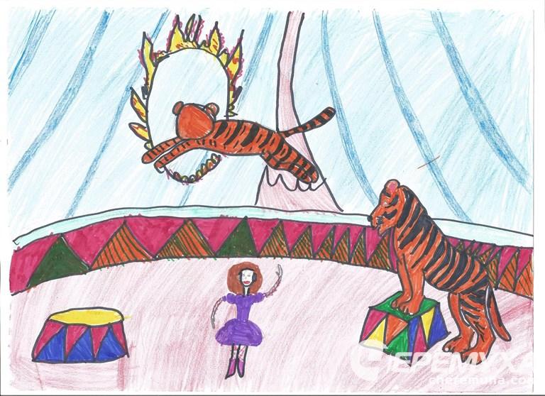 нарисуй цирк картинки